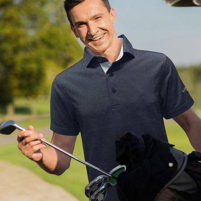 Callaway Polo Oxford Pique Polo Tee (Self Fabric Collar)