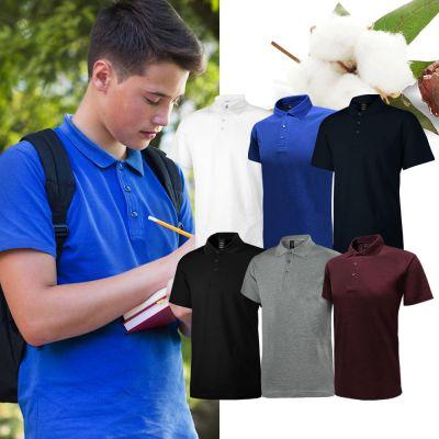 Uno Verano Cotton Polo T-Shirt (100% Premium Cotton)